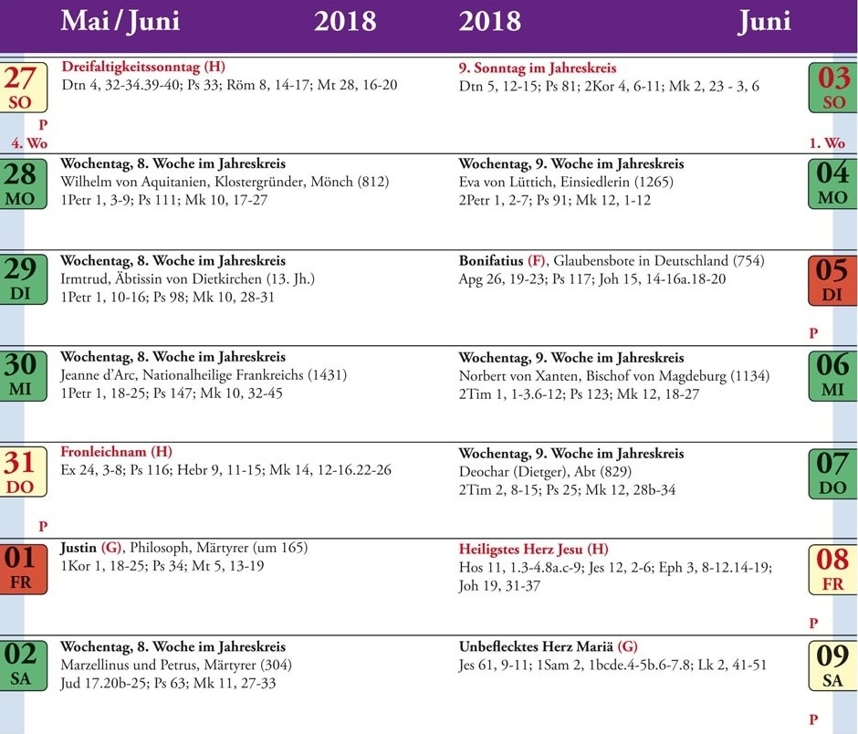 Katholischer Kalender 2021 Namenstage   kalender jun 2021